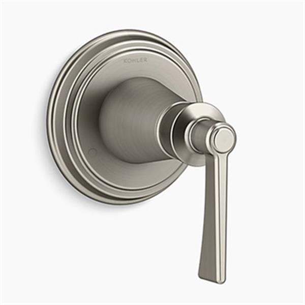 KOHLER Archer Vibrant Brushed Nickel Lever Handle Transfer Valve Trim