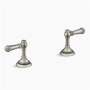 KOHLER Artifacts Vibrant Brushed Nickel Deck-Mount Bath Prong Handle Trims