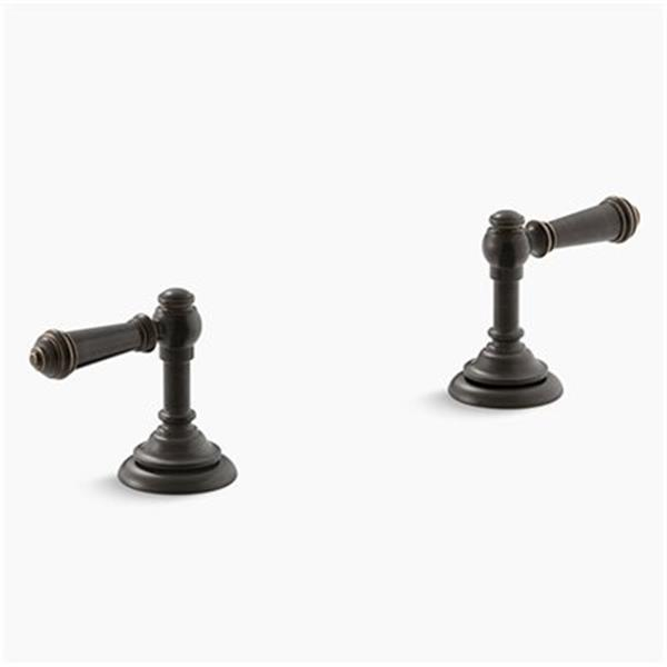 KOHLER Artifacts Oil-Rubbed Bronze Deck-Mount Bath Prong Handle Trims