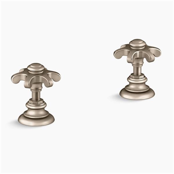 KOHLER Artifacts Vibrant Brushed Bronze Deck-Mount Bath Prong Handle Trims