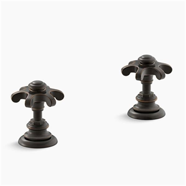 KOHLER Artifacts Oil-Rubbed Bronze Deck-Mount Bath Prong Handle Trims