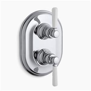 KOHLER Bancroft Polished Chrome Stacked Thermostatic Trim