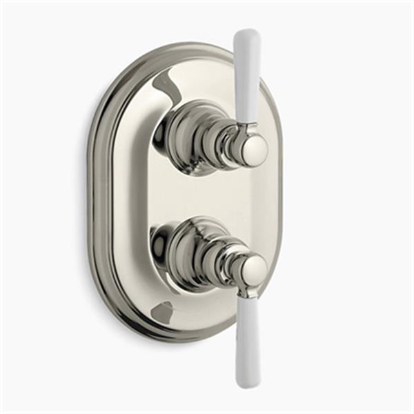 KOHLER Bancroft Vibrant Polished Nickel Stacked Thermostatic Trim