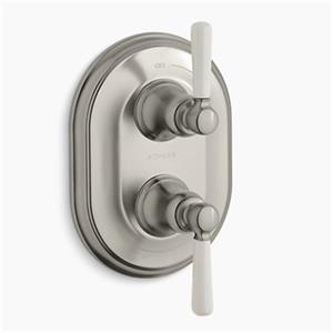 KOHLER Bncroft Vibrant Brushed Nickel Stacked Thermostatic Trim
