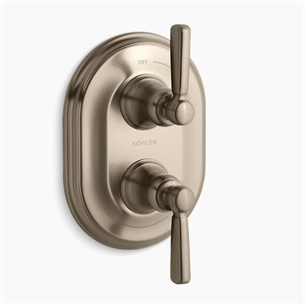 KOHLER Bancroft Vibrant Brushed Bronze Stacked Thermostatic Trim