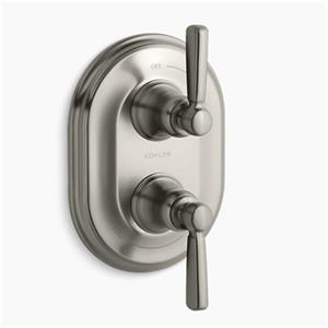 KOHLER Bancroft Vibrant Brushed Nickel Stacked Thermostatic Trim