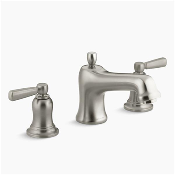 KOHLER Bancroft 7.1-in Vibrant Brushed Nickel Deck-Mount Bath Faucet Trim with Metal Lever Handles