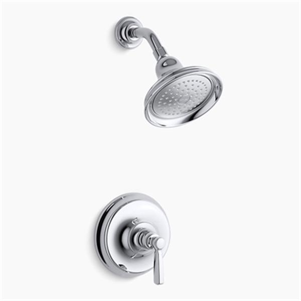 KOHLER Bancroft Polished Chrome Rite-Temp Pressure-Balancing Shower Faucet Trim with Metal Lever Handle