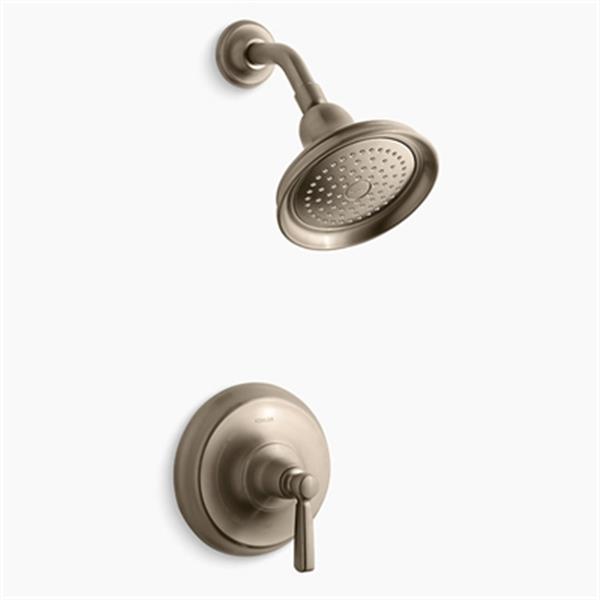 KOHLER Bancroft Vibrant Brushed Bronze Rite-Temp Pressure-Balancing Shower Faucet Trim with Metal Lever Handle