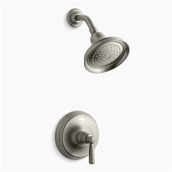 KOHLER Bancroft Vibrant Brushed Nickel Rite-Temp Pressure-Balancing Shower Faucet Trim with Metal Lever Handle