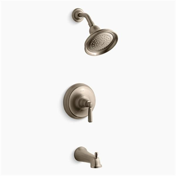 KOHLER Bancroft  Brushed Bronze Rite-Temp Pressure-Balancing Bath and Shower Faucet Trim Diverter Spout and Metal Lever Handle