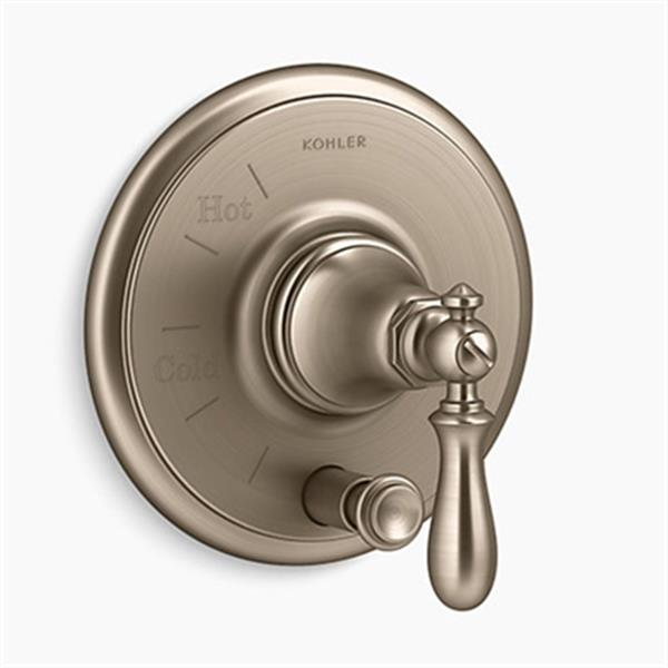 KOHLER Artifacts Vibrant Brushed Bronze Rite-Temp Pressure-Balancing Valve Trim