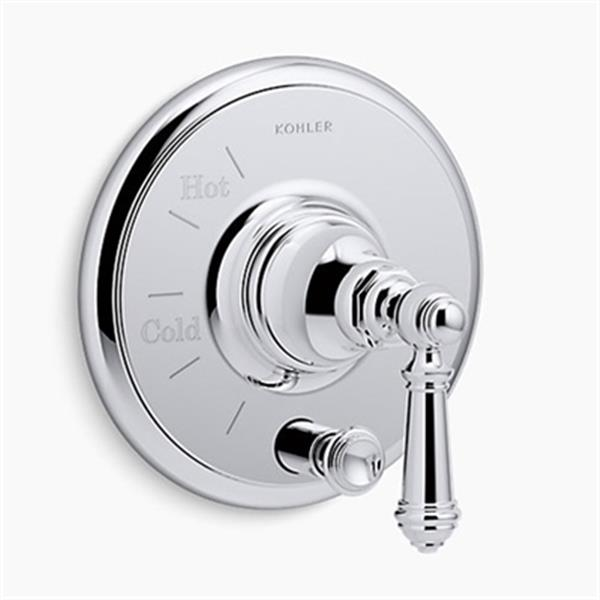 KOHLER Artifacts Polished Chrome Rite-Temp Pressure-Balancing Valve Trim