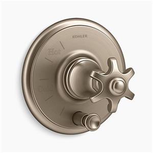 KOHLER Artifacts Vibrant Brushed Bronze Rite-Temp Pressure-Balancing Valve Trim