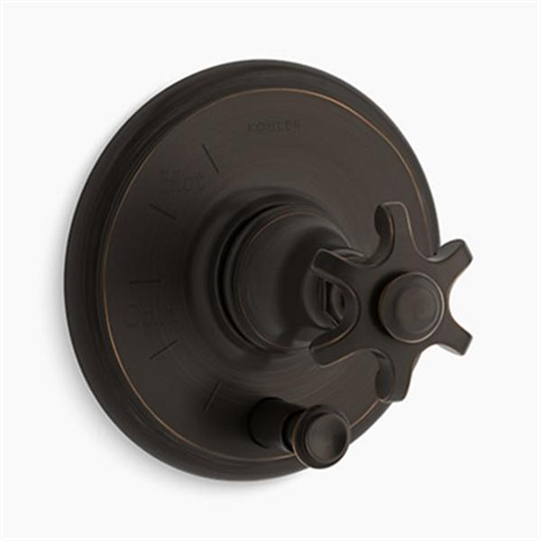 KOHLER Oil-Rubbed Bronze Rite-Temp Pressure-Balancing Valve Trim
