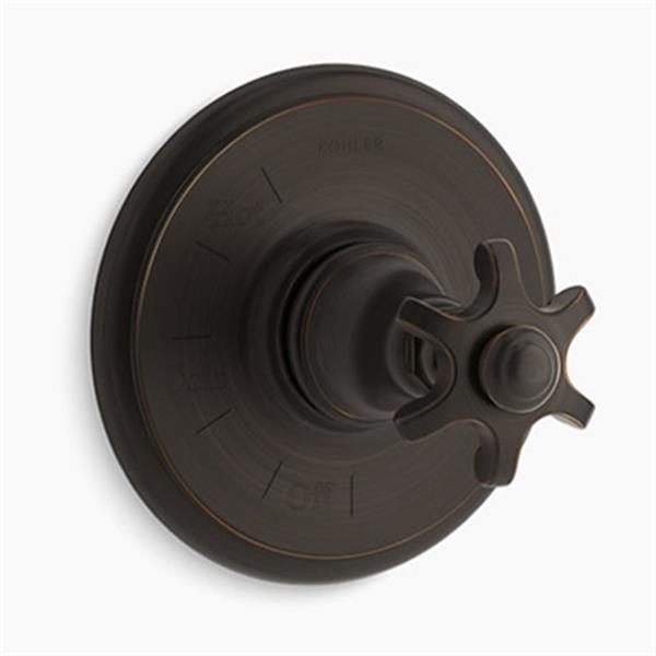 KOHLER Artifacts Oil-Rubbed Bronze Rite-Temp Pressure-Balancing Valve Trim with Prong Handle