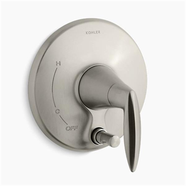 KOHLER Alteo Vibrant Brushed Nickel Valve Trim with Push-Button Diverter