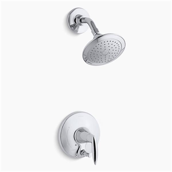 KOHLER Alteo Polished Chrome Shower Trim with Push-Button Diverter