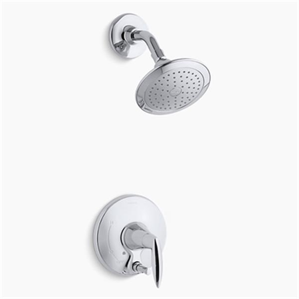 KOHLER Alteo Polished Chrome Shower Trim with Push-Button Diverter
