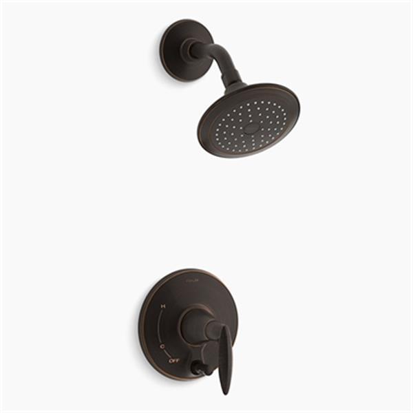 KOHLER Alteo Oil-Rubbed Bronze Shower Trim with Push-Button Diverter