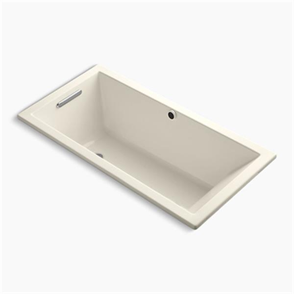 KOHLER 60-in x 30-in Drop-in Bath with Bask Heated Surface and End Drain