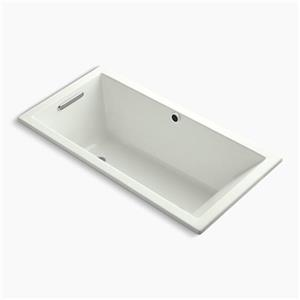 Kohler Co. Underscore 60-in x 30-in Dune Drop-in Bath with Bask Heated Surface and End Drain