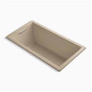 Kohler Co. Underscore 60-in x 32-in Mexican Sand Drop-in Bath
