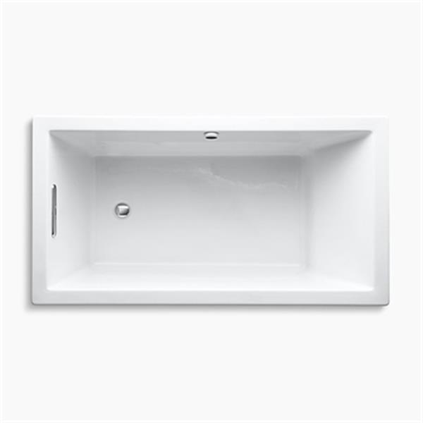 KOHLER 60-in x 32-in Drop-in Bath with Bask Heated Surface