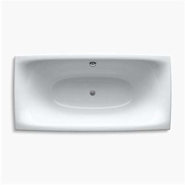 KOHLER 72-in x 36-in Freestanding Bath with Hole Drilling for Symbol Roman Bath Filler