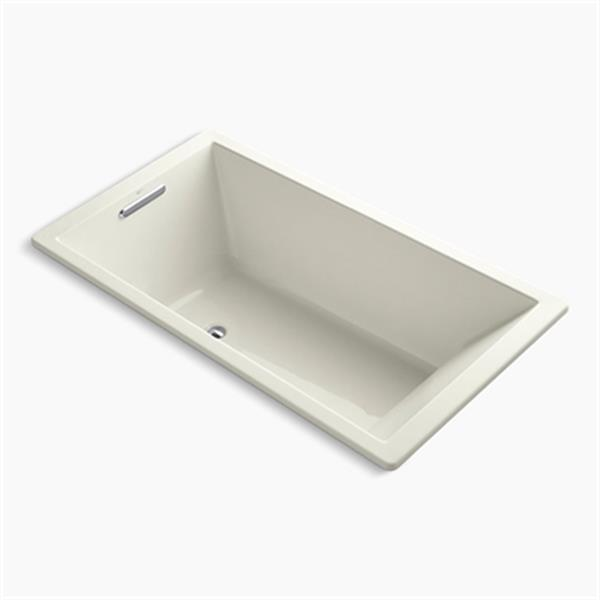 KOHLER 66-in x 36-in Drop-in Bath with End Drain