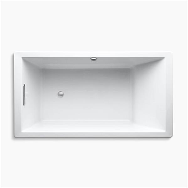 KOHLER 66-in x 36-in Drop-in Bath with Bask Heated Surface and Reversible Drain