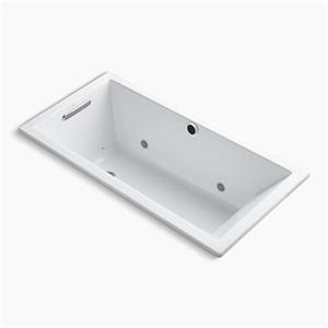 Kohler Co. Underscore 60-in x 30-in Mexican Sand Reversible Drop In Bubblemass Bath