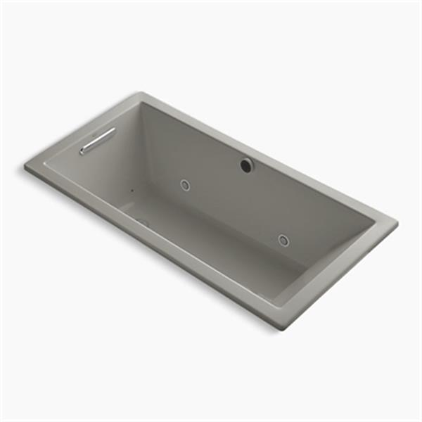 KOHLER 60-in x 30-in Drop-in BubbleMassage Air Bath with Chromatherapy