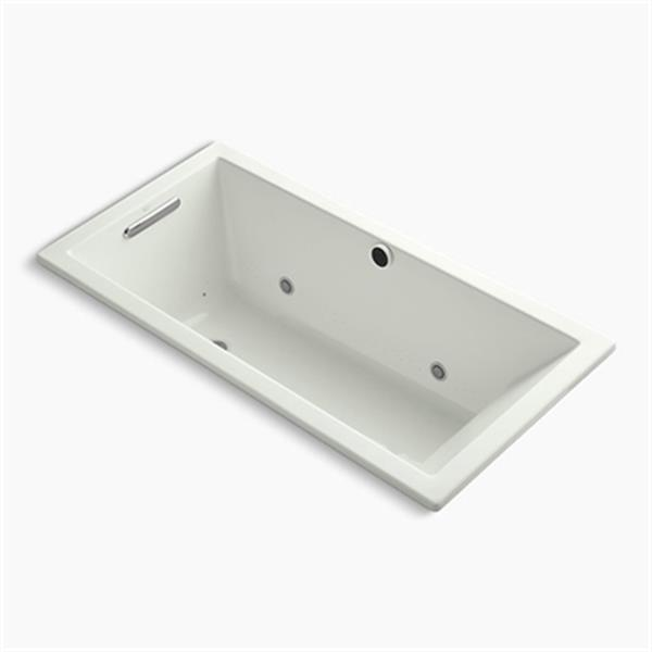 KOHLER 60-in x 30-in Drop-in BubbleMassage Air Bath with Bask Heated Surface and Chromatherapy