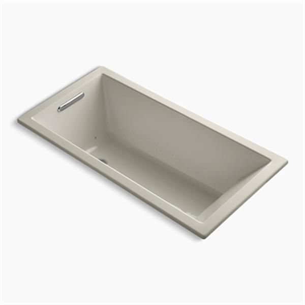 KOHLER 60-in x 30-in Drop-in VibrAcoustic + BubbleMassage Air Bath