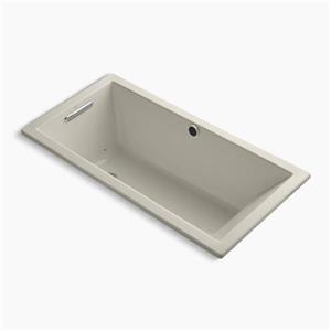KOHLER 60-in x 30-in Drop-in Bubblemassage Air Bath with Bask Heated Surface and Reversible Drain