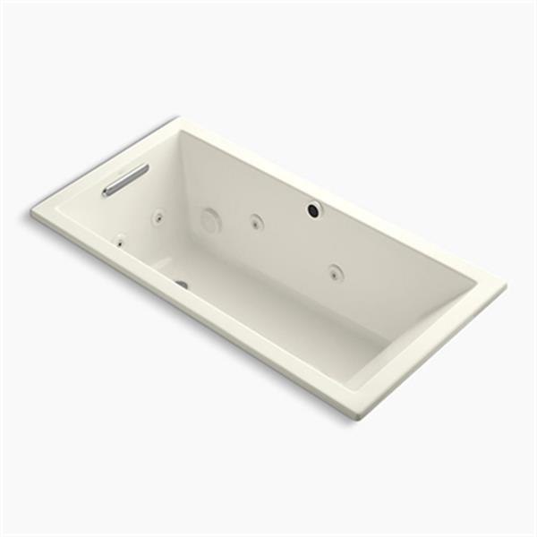KOHLER 60-in x 30-in Drop-in Whirlpool with Heater without Jet Trim