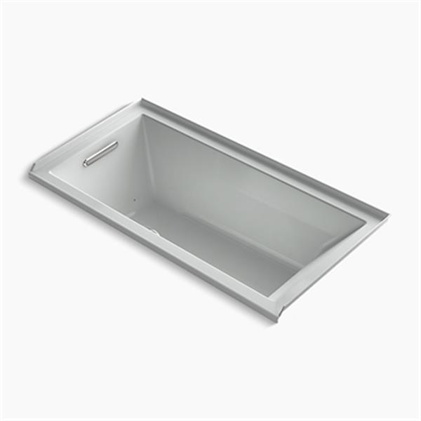 KOHLER 60-in x 30-in Alcove BubbleMassage Air Bath with Integral Tile Flange