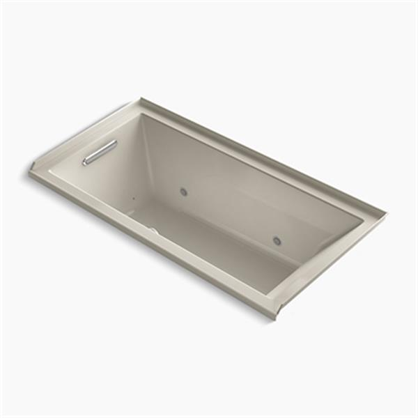 KOHLER 60-in x 30-in Alcove BubbleMassage Air Bath with Integral Flange and Chromatherapy