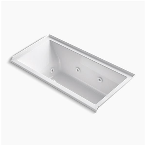 KOHLER 60-in x 30-in Alcove Whirlpool with Integral Tile Flange