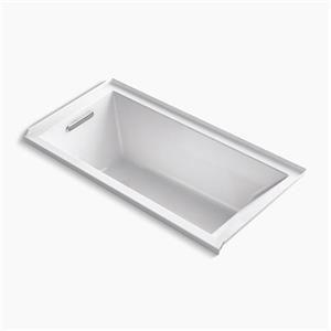 Kohler Co. Underscore 60-in x 30-in White Alcove VibrAcoustic