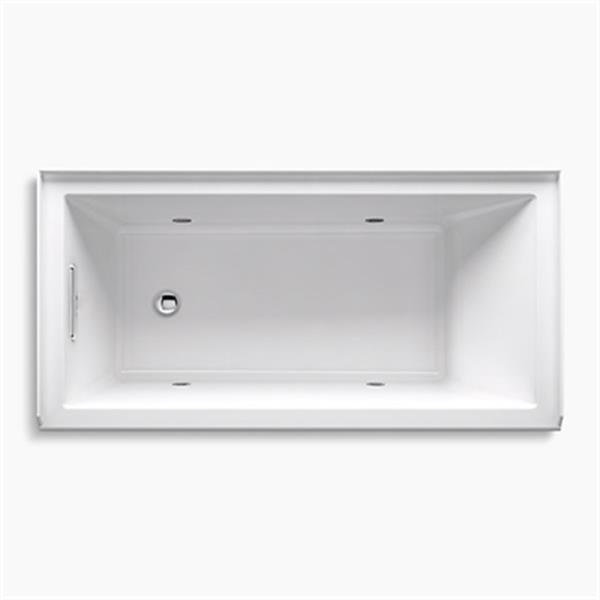 KOHLER 60-in x 30-in Alcove VibrAcoustic Bath with Chromatherapy