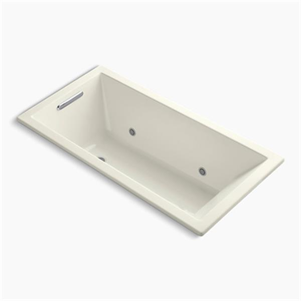 KOHLER 60-in x 30-in Drop-in VibrAcoustic Bath with Chromatherapy