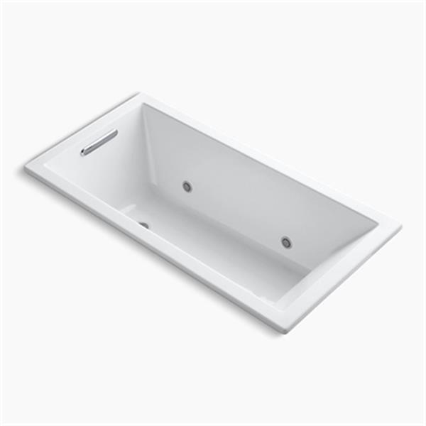 KOHLER 60-in x 30-in Drop-in VibrAcoustic Bath with Bask Heated Surface and Chromatherapy