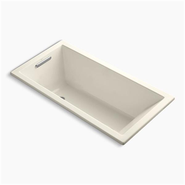 KOHLER 60-in x 30-in Drop-in VibrAcoustic Bath with Bask Heated Surface