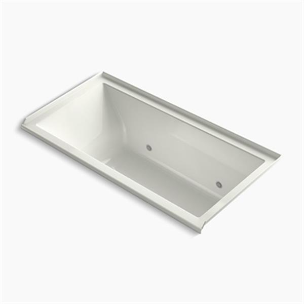 KOHLER 60-in x 30-in Alcove VibrAcoustic Bath with Bask Heated Surface, Integral Flange and Chromatherapy