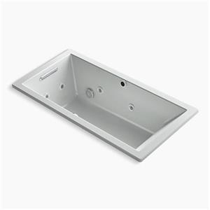 KOHLER 60-in x 30-in Drop-in Whirlpool + BubbleMassage Air Bath