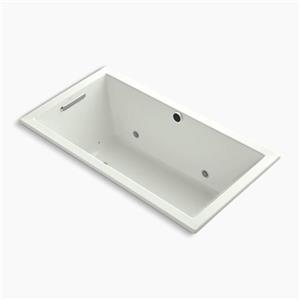 Kohler Co. Underscore 60-in x 32-in Dune Drop-in BubbleMassage Air Bath with Chromatherapy