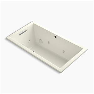 KOHLER 60-in x 32-in Drop-in Whirlpool with Heater without Jet Trim