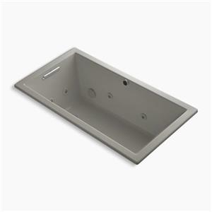 Kohler Co. Underscore 60-in x 32-in Cashmere Drop-in Whirlpool with Heater without Jet Trim